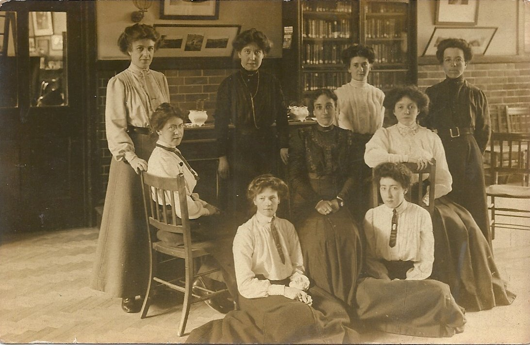 [Dorothy Brooks, Central Girls School, with teachers]