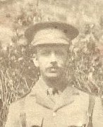 Brooks Ernest 7 Whitehouse Road in WWI uniform cropped Clive Organ