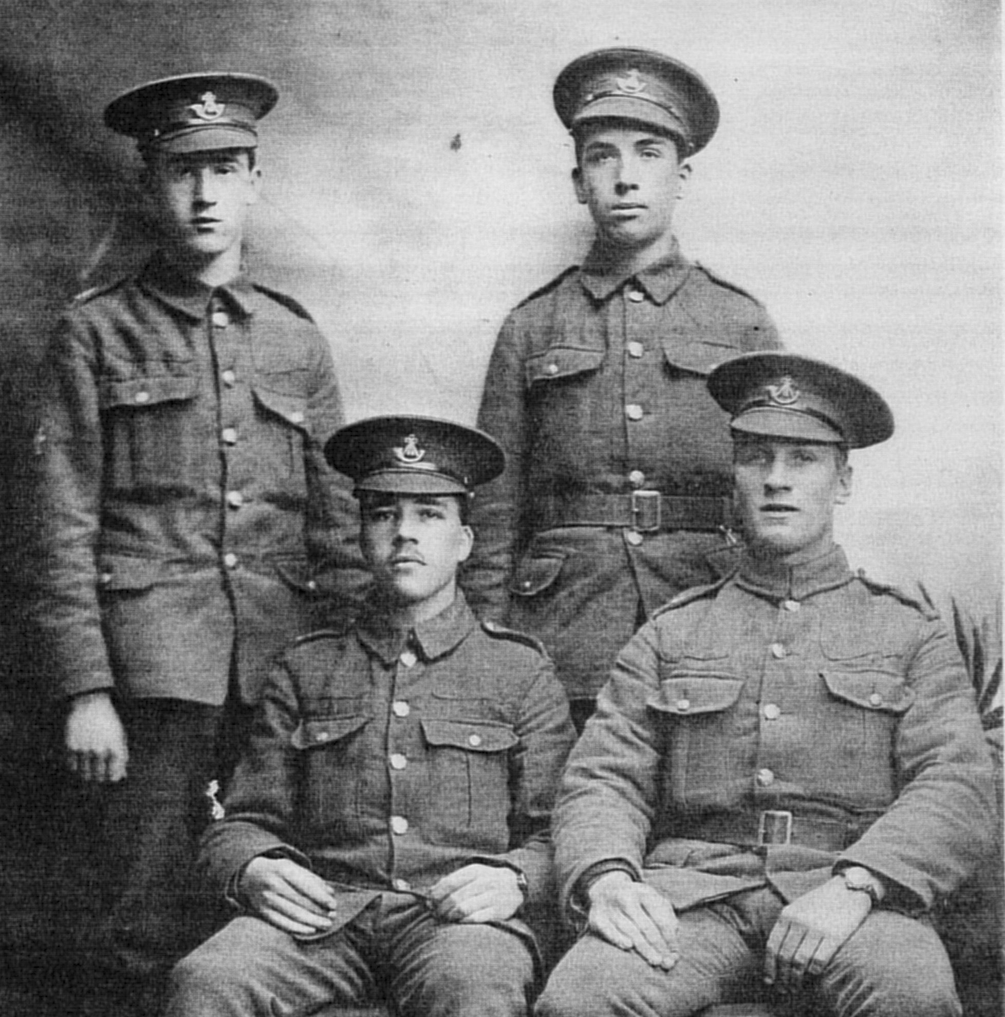 Grandpont soldiers 1915 cropped Jim Tallett