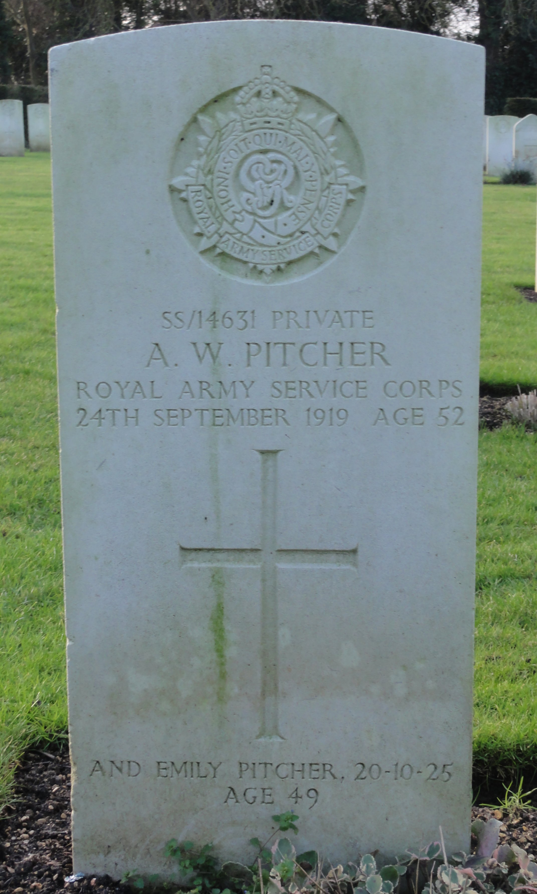 [Pitcher headstone Botley Adrian Colbrook]