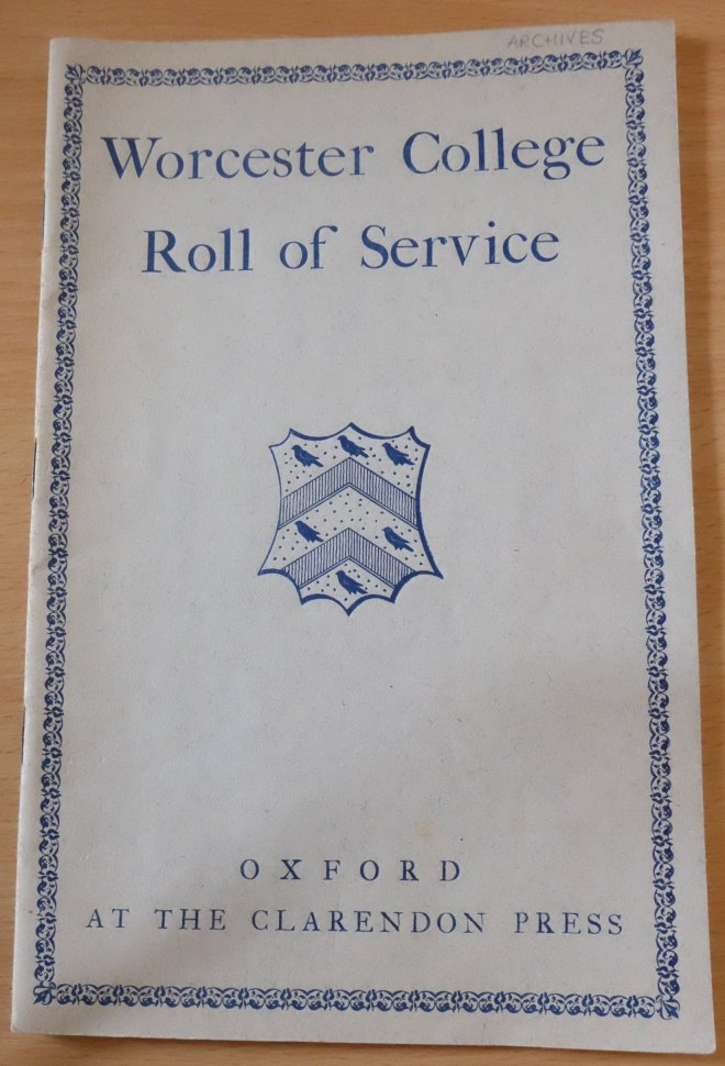 [Worcester College Roll of Service, front cover]