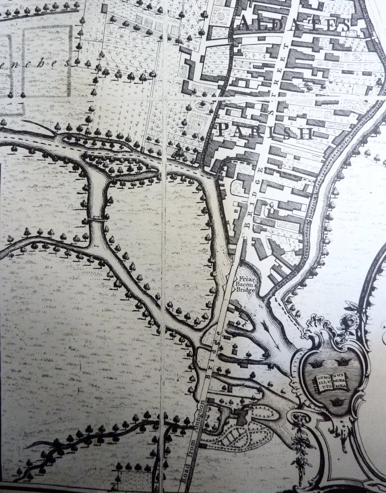[Folly Bridge & St Aldates, Taylors Map of 1750 updated by Faden 1789]