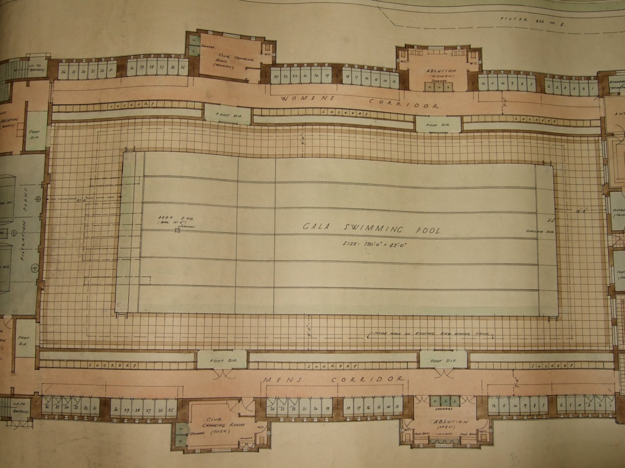 [Proposed Gala Baths, Hinksey Park, plan]