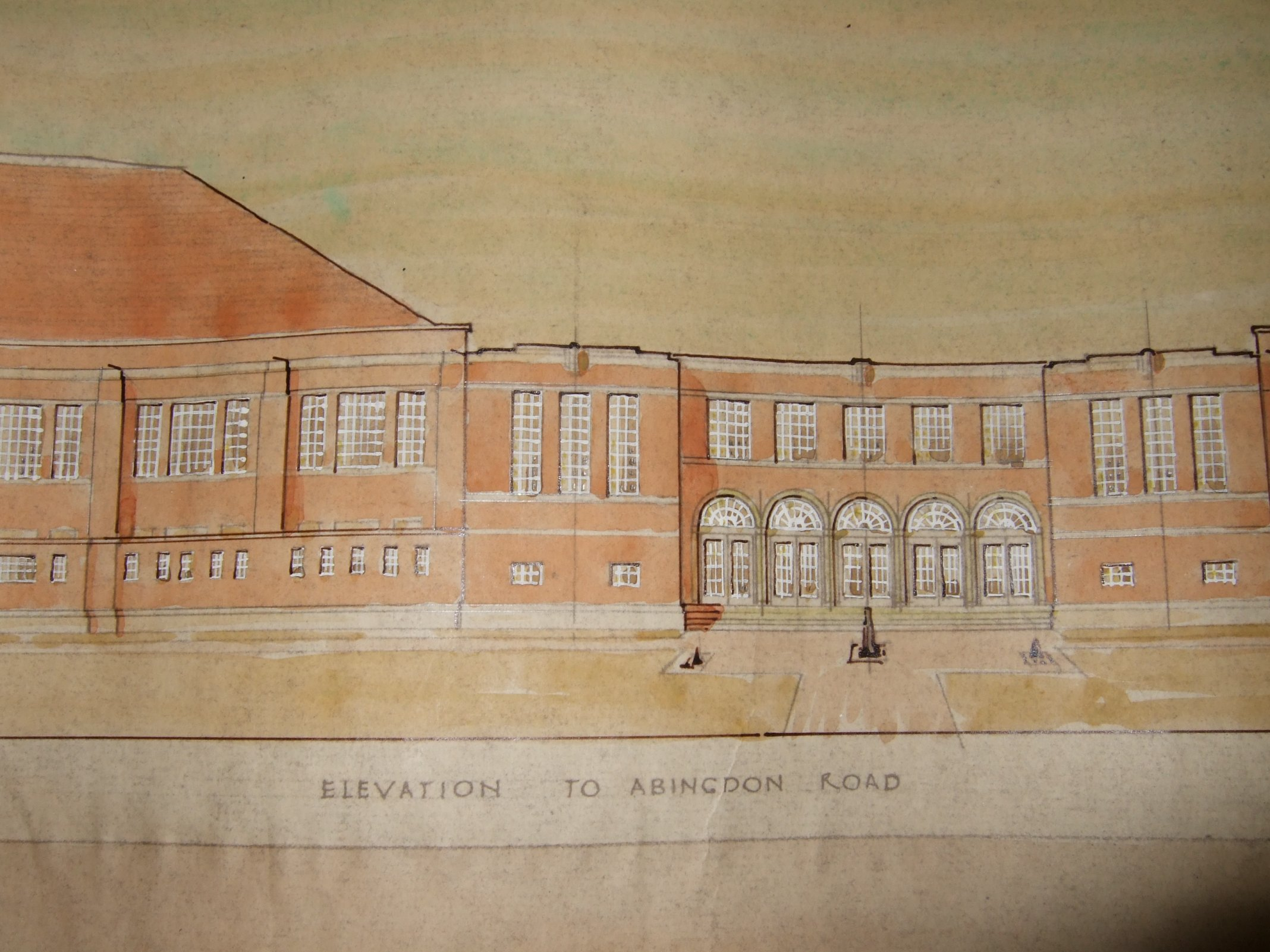 [Proposed Gala Baths, Hinksey Park, elevation]