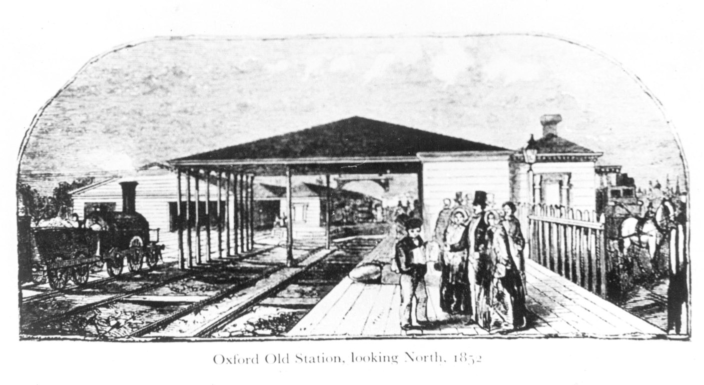 [The GWR station at Grandpont in 1852]