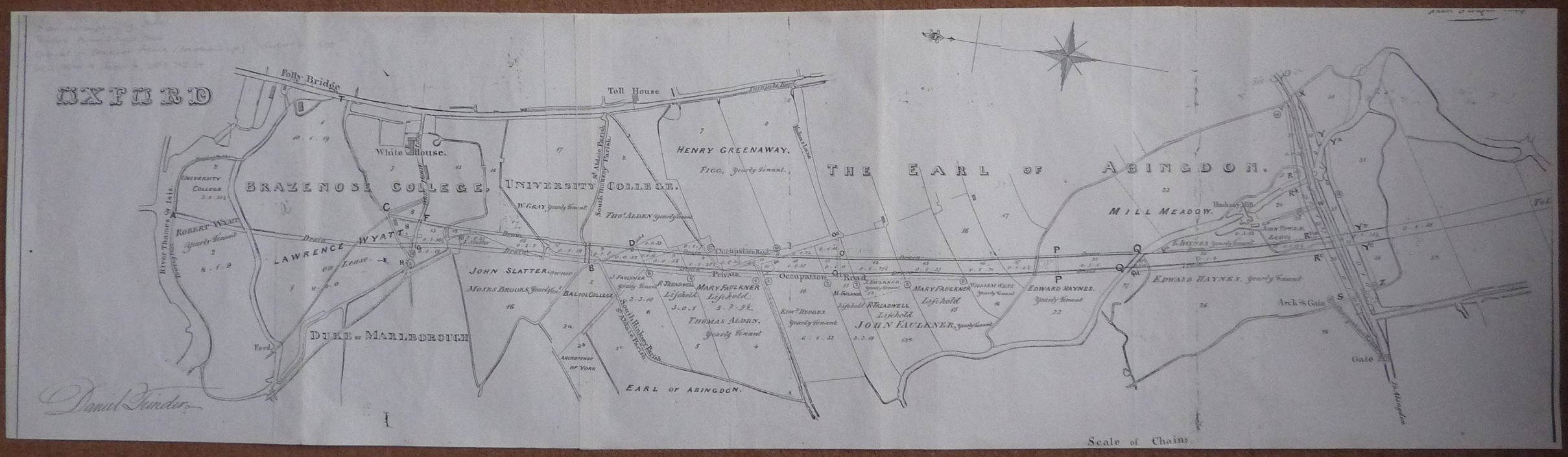 [Map accompanying Daniel Trinders Award 1844]