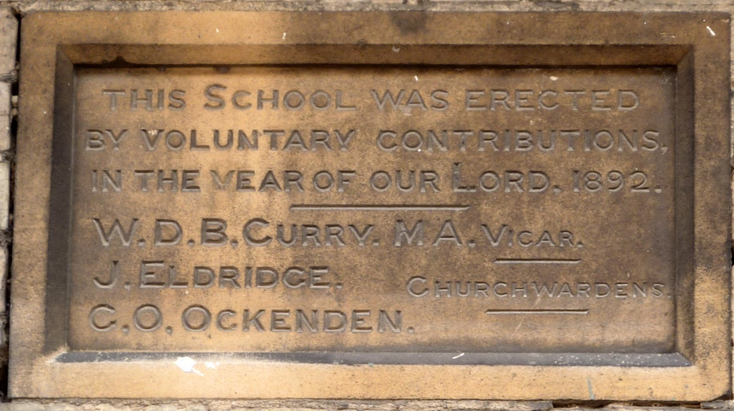 New Hinksey school stone
