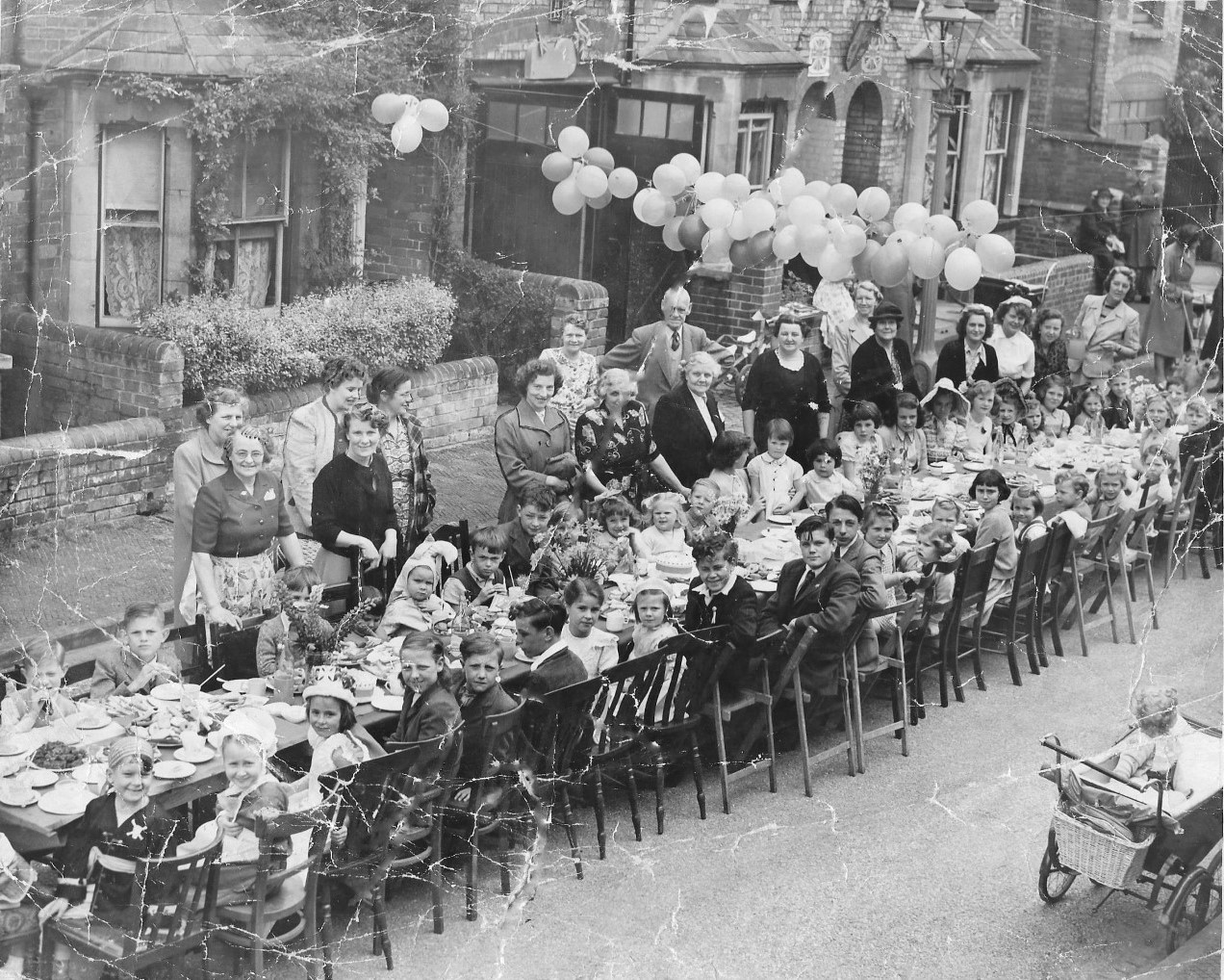 Coronation party Chilswell Road 1953 William Willmott