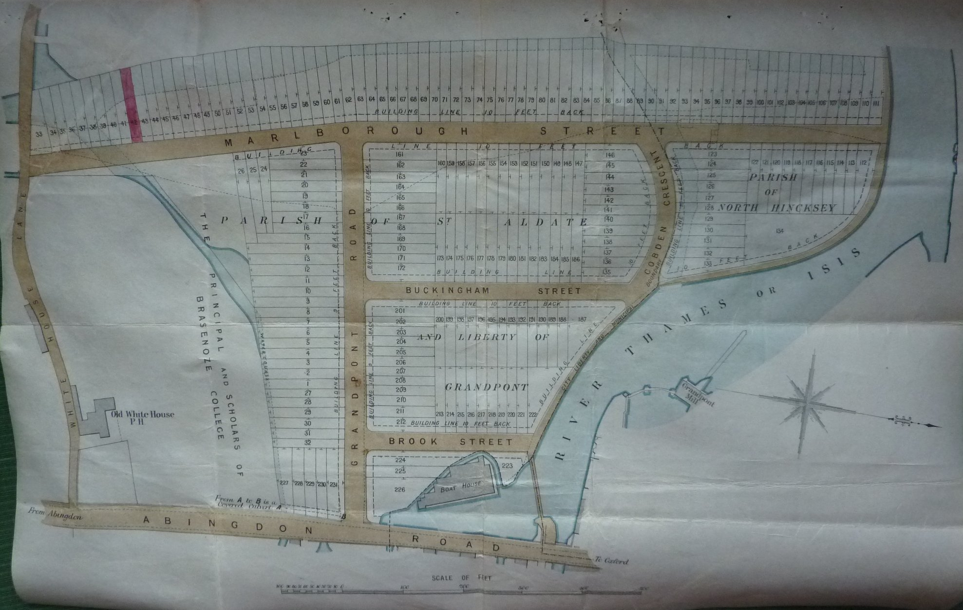 Grandpont estate map Ox Building  Invest Co 1879 1